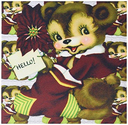 3drose LLC 20,3x 20,3x 0,6cm Maus Pad Cartoon Bear Weihnachtsstrumpf Holly und Fliesen Mosaik Muster (MP _ 172800_ 1) (Rosen-mosaik-fliesen)