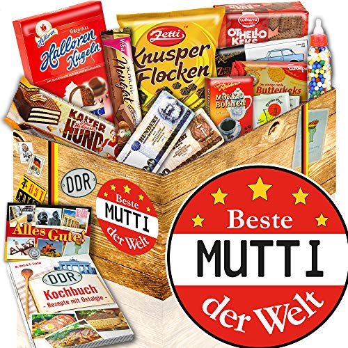 BESTE MUTTI DER WELT - Geschenk Set für MUTTI - DDR Süssigkeiten Box (Geschenke Für Mama Zum Geburtstag)