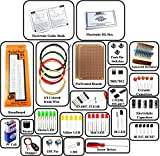 Insignia Labs - Electronic Components Project Kit/Basic Kit With Tutorial Book (Includes Breadboard, PCB, Capacitors, Leds, Buzzer, Etc)