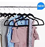 Standby Duo Flocked Ultra Thin Space Saving Non-Slip Durable Clothes Hangers, Pack of 50