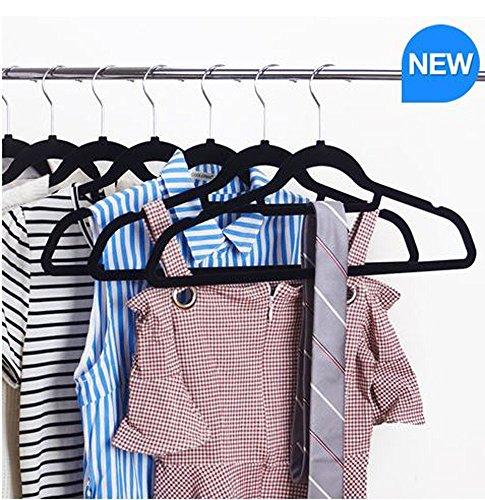 3 Stück Petite Anzug (Standby Duo beflockt Ultra Dünn platzsparend rutschfest Langlebig Kleiderbügel, 50Stück)