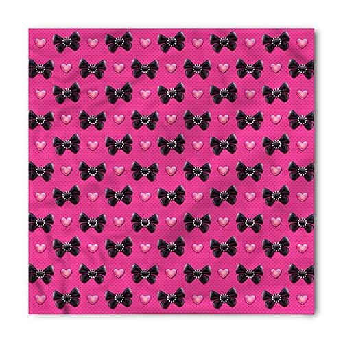 LULABE Pearls Bandana, Bow Ties with Hearts, Unisex Bandana Head and Neck Tie Neckerchief Headdress Silk-Like 100% Polyester (Bulk Bow Red Ties)