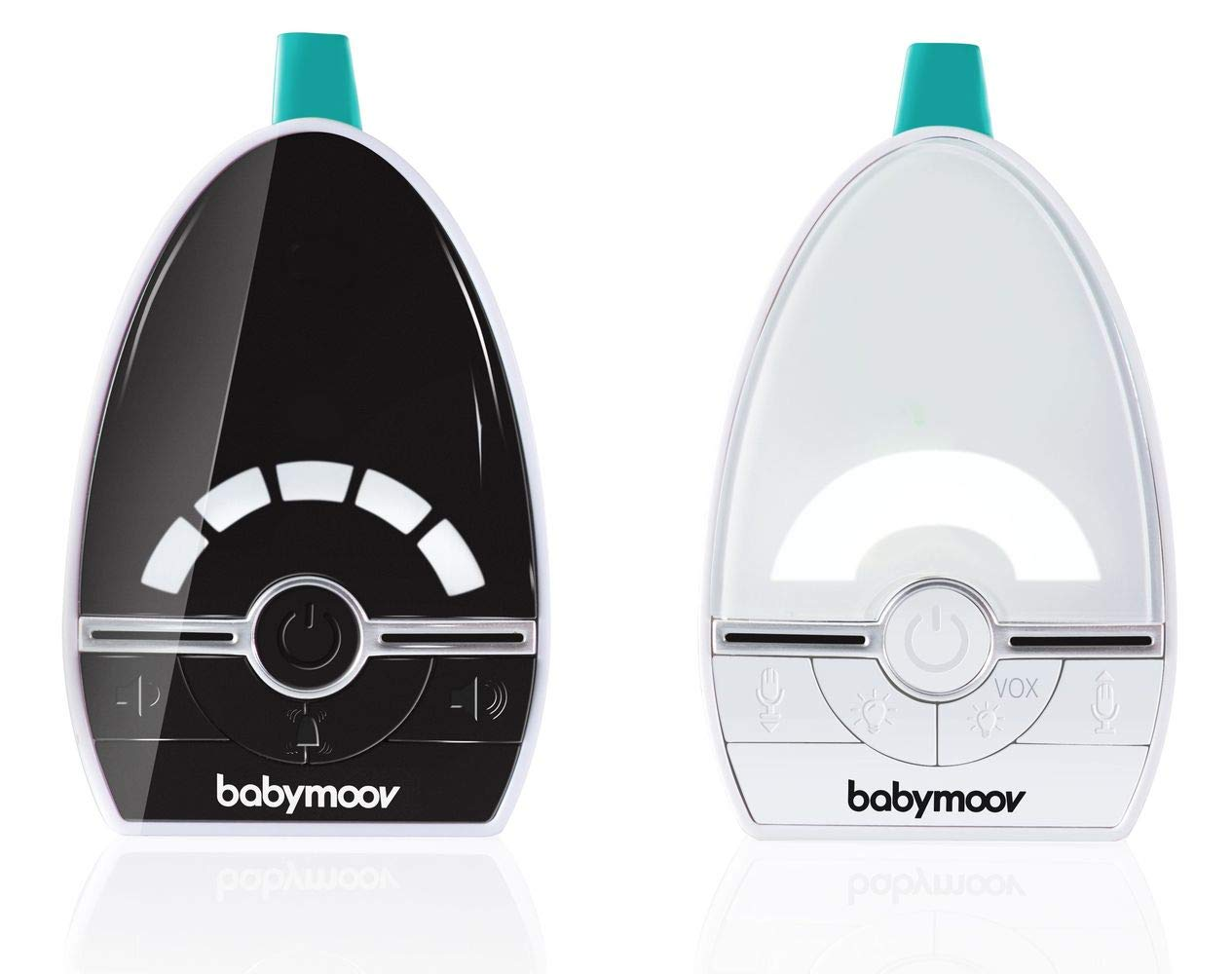 BABYMOOV Expert Care Compact Audio Monitor, 1000 m BABYMOOV Digital green technology: this innovation reduces wave emissions from your baby monitor and guarantees the longest range on the market. expert care has a 1000m range: ideal for an apartment/ house Essential functions: it has a 3-alert vex mode (visual, audio, or vibration), an out-of-range/ low battery alarm, and automatic channel search Night light included: expert care includes a night light in the baby unit. this audio baby monitor emits a soft, reassuring light in your baby's room 1