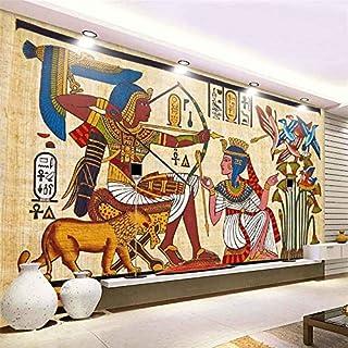 LANYU Wallpaper Vintage Egyptian Pattern Non-Woven Wallpaper Bar Ktv Wallpaper Living Room Restaurant Mural Custom Mural