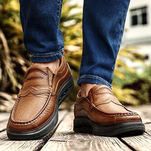 Hommes Chaussures De Sport En Milieu De Cuir Âgé Confortable Ensemble De Pieds Chaussures Hommes Mode Casual Chaussures Jaune