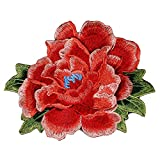 3 St. 3D Blume-Applikation Spitze Stickerei Stoff Patches
