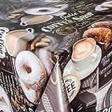 ANRO Wachstuch Wachstischdecke Tischdecke abwaschbar Kaffee Süßigkeiten 160 x 140cm