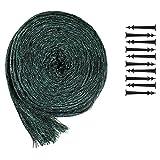 com-four® Teichabdecknetz, 6 x 5 Meter, mit 10 Netzanker (01 Stück - 6 x 5 m)