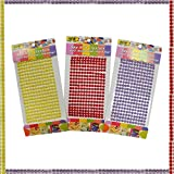 #4: AsianHobbyCrafts Pearl Stone Stickers for Scrapbooking, Gift Decoration, hobby crafts etc. Size: 22 x 10 cm Sheet Qty: 3pcs per Pack
