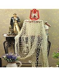 Vktech Antique Decorative Nautical Filet de pêche pour décoration de fête