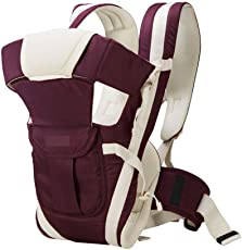 John Richard Adjustable Hands-Free 4-In-1 Front Baby Carrier Bag With Waist Belt (Purple)