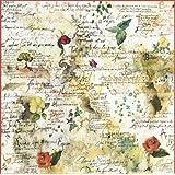 Tovagliolo Carta di riso Fiori e poesie - Stamperia DFT017
