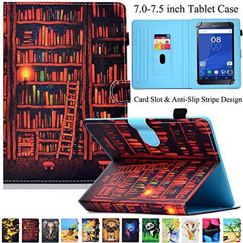 Universal Tablet-Schutzhülle, Artyond PU Leder Multi-Winkel Ständer Hülle mit Kartenschlitzen für Android, Windows, Kindle, Galaxy Tab und andere 17,8-7,5 Zoll Tablet, Bookrack - 7-zoll-kindle Ständer Für