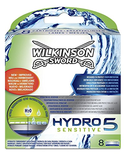 Price comparison product image Wilkinson Sword Hydro 5 Sensitive Razor Blades - Pack of 8 Blades