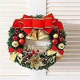 kuaetily Weihnachtskranz mit Kugel, Schleife, Weihnachten Dekor