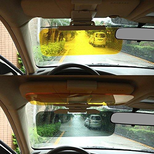 Yahee Sonnenschutz Blendschutz Sonnenblende 2 in 1 Transparent Auto-Sonnenblende für Tag und Nacht incl. Reinigungstuch