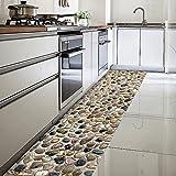 ChasBete 30 x 360cm Anti-Rutsch Wasserdicht Sicherheitsboden Aufkleber Dünne PVC Boden Decor Aufkleber für Küche Bad Dusche Fußmatte, 3D Stein