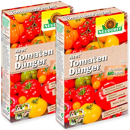 Neudorff Tomaten Dünger Azet 2 x 2,5 kg Sparpack + Gratiszugabe 20g Kressesamen Sprint