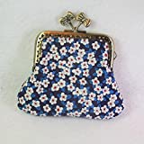 Coin purse made with metal clasp fabrics Liberty of London - 2 fabric design