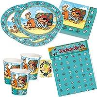 Pirat Pit Planke Partyset 37tlg. für 8 Kinder Teller Becher Servietten Tischdecke