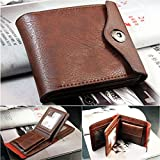 RONGXINUK Mens Leather Bifold ID Cards Holder Coin Pocket Bag Slim Purse Wallet Fashion