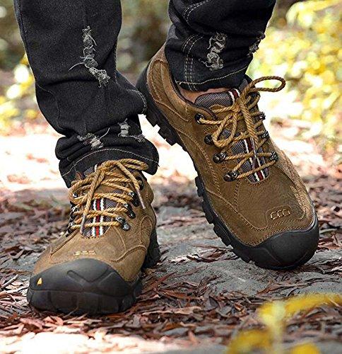 Uomo Pompa Casual Scarpe sportive Punta tonda Lace-up Fondo morbido Scarpe da trekking Scarpe da corsa Outdoor Snekers Eu Taglia 38-45 Khaki matte
