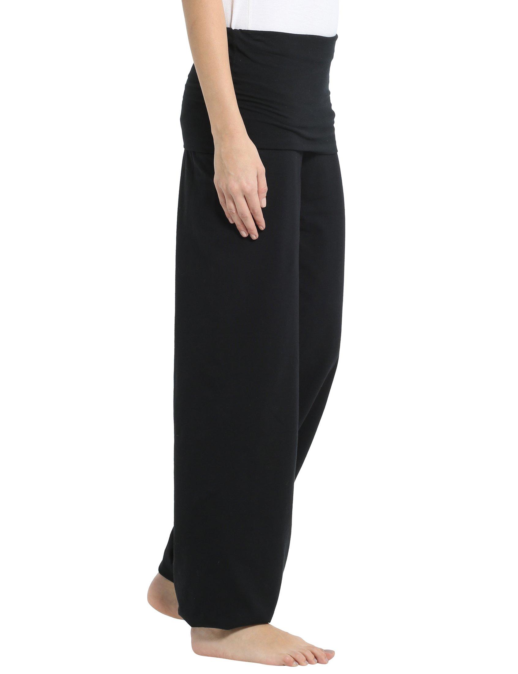 d9683bb1c7a91 Ultrasport Women's Yoga Pants Balance – Fold Over Womens Active ...
