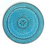 Marokkanischer Teller Safi blau, 22cm | bunte marokkanische Keramik Teller bunt aus Marokko | Große Keramikschalen flach Geschirr aus dem Orient handbemalt