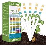 Toulifly Soil Test Kit,Soil pH Test Kit,Soil Test Strips,Soil Testing Kit,Soil pH Test Strips,Soil Testing Strips,pH Strips F