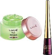 Lakmé 9 to 5 Naturale Aloe Aquagel, 50g & Lakme 9 to 5 Impact Eye Liner, Black, 3.5ml