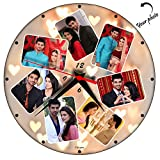 #7: Huppme Personalized Photo Art Round Glass Wall Clock