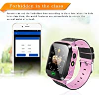 Lorenlli Smart Watch Orologio da Polso per Bambini Touch Screen Anti-Perso Orologio da Bambino Smartwatch con Fotocamera…