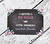 Trauzeugen Dankeschön Karte für Hochzeit Geschenk für Trauzeugin