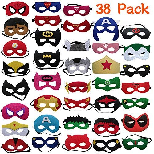 DREAMWIN 38 Piezas Máscaras de Superhéroe