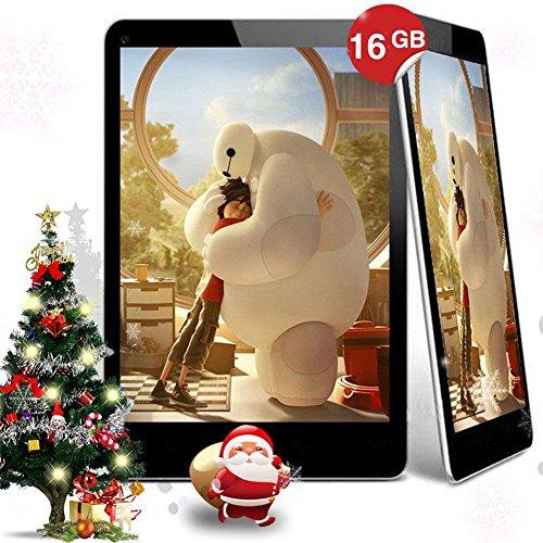 """Springdoit Tableta Android 4.4 de 9 """" Accesorios para Estudiantes de Tableta de 16 GB + Teclado Protectora de Cuatro núcleos - Blanco"""