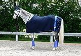 Kerbl Covalliero RugBe Fleecedecke Collection Frühjahr/Sommer 18, in Navy-Blau oder Hell-Grau, Pferdedecke in 125 bis 155 cm (125 cm, Navy)