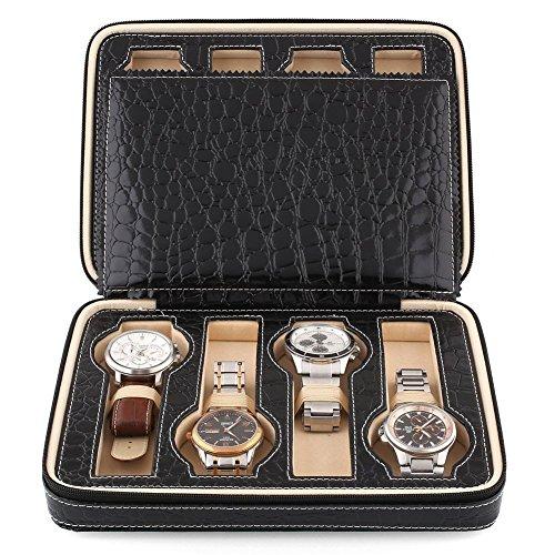 amzdeal-scatola-per-8-orologi-di-stile-della-chiusura-lampo-nero