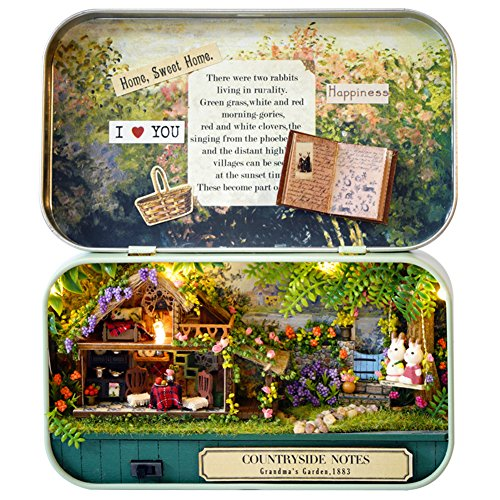DIY Dollhouse Miniature Kit Handmade Xmas/Birthday Idea Gift Box Theatre (Pastoral Notes)