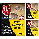 SBM Protect Home GARDOPIA Sparpaket: 3 x 400g Rodicum Ratten Getreideköder + Gardopia Zeckenzange mit Lupe