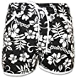 A-Express Schwarz Damen Badeshorts Sommer Blumen Shorts Surfen Blumenmuster Strand Hose Größe 42