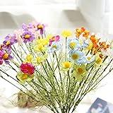 Smiela 18/24 Stück Künstliche Blumen Deko Kunstblumen Fake Kunstpflanzen Fingerstrauch für Zuhause, Hochzeiten, Garten, Geburtstag, Feierlichkeiten