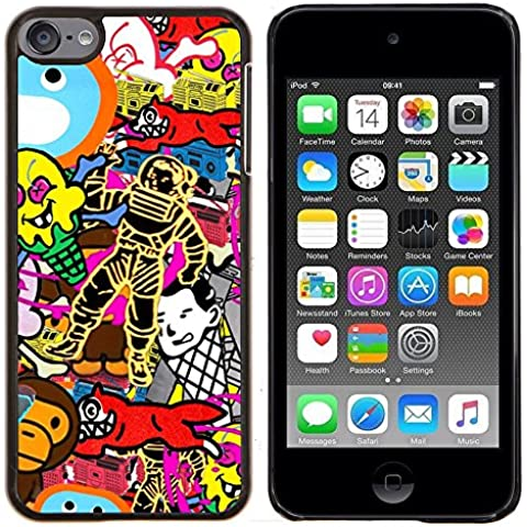 Copertura di plastica Shell Custodia protettiva || Apple iPod Touch 6 6th Touch6 || Carta da parati a caso Arte Spacesuit Fox scimmia @XPTECH