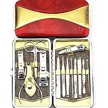 Promozione !!! Belle Voga Unghie Manicure e Pedicure, Utensili da Viaggio & Grooming Kit con uno Stile di Bellezza Red Cup Raccoglitore / Cassa, Nave da UK - Regalo Materiale