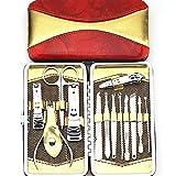 Promozione !!! Belle Voga Unghie Manicure e Pedicure, Utensili da Viaggio & Grooming Kit con uno Stile di Bellezza Red Cup Raccoglitore / Cassa, Nave da UK