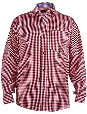 Kariertes Trachtenhemd aus 100% Baumwolle