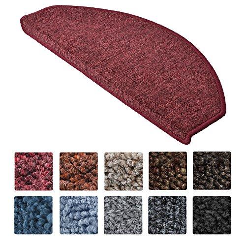 Beautissu tappeti scale prostair 65x24cm - set da 15 passatoie singole per gradini - retro adesivo antiscivolo - bordeaux
