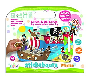 Fiesta Crafts-Robots Piratas del palillo del Juguete (Multicolor), Color (Various) (T-2823)