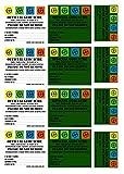 1 Bogen Geocaching Aufkleber für Petling - Dosen - Filmdosen für Verstecke