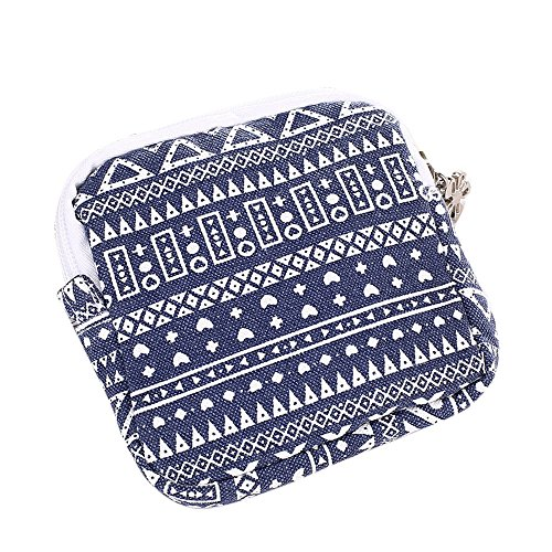 BHYDRY donne ragazza carina sanitario Pad organizzatore titolare tovagliolo asciugamano convenienza borse(11.5 * 11.5cm,Blu)