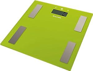 Salter 9150 GN3R Elektronische Körperanalysewaage aus Glas, grün